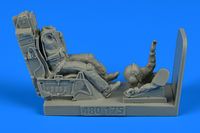 USAF Fighter Pilot with ejection seat for F-16 Figurines HAS/TAM/ACA/KIN