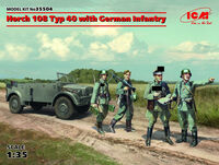 Horch 108 Typ 40 with German Infantry