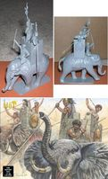 Carthaginian War Elephant with 3 Man Crew