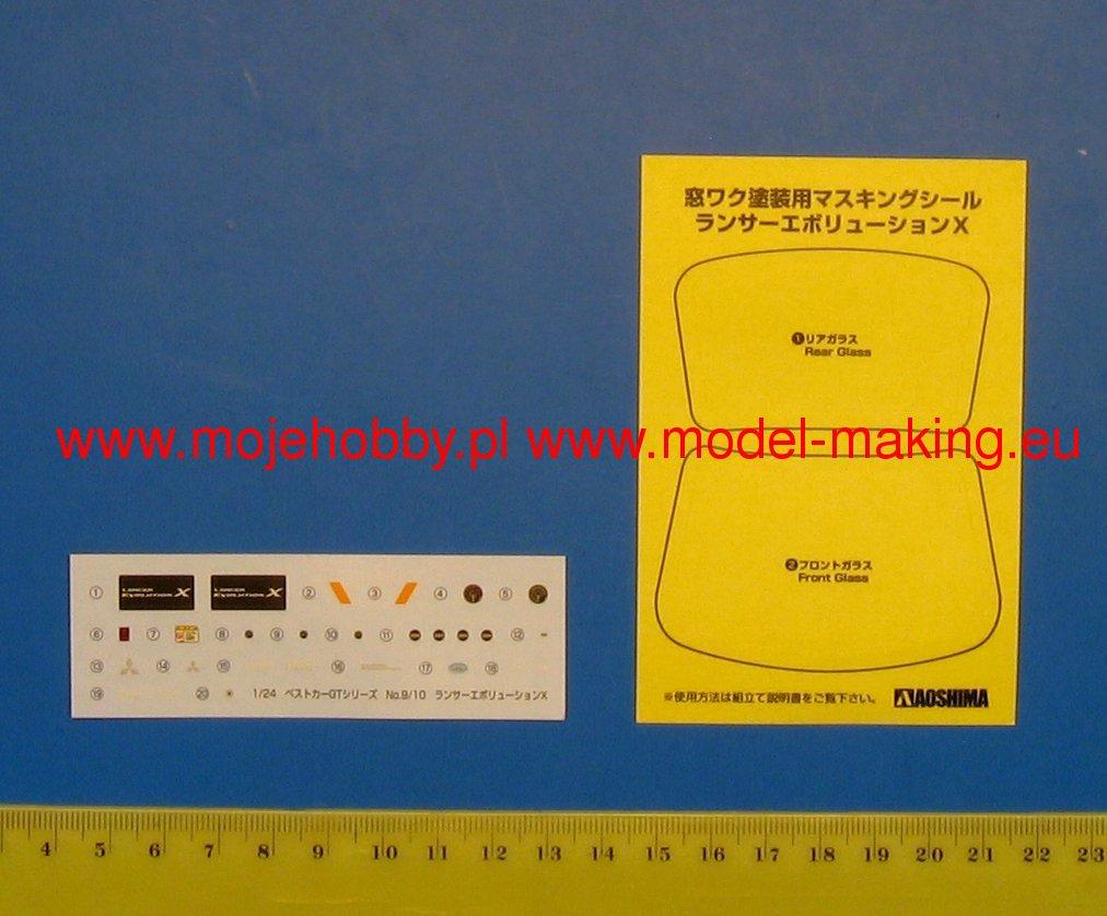 Mitsubishi Lancer Evolution X model do sklejania Aoshima 04490