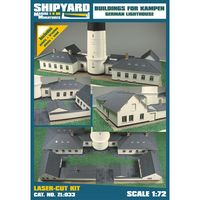 Biuldings for Lighthouse Kampen skala 1:72