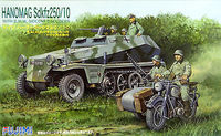 Hanomag Sd.Kfz 250/10 with B.M.W. Sidecar and 6 Soldiers - Image 1