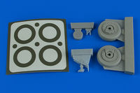 A-1J Skyraider wheels & paint masks TAMIYA