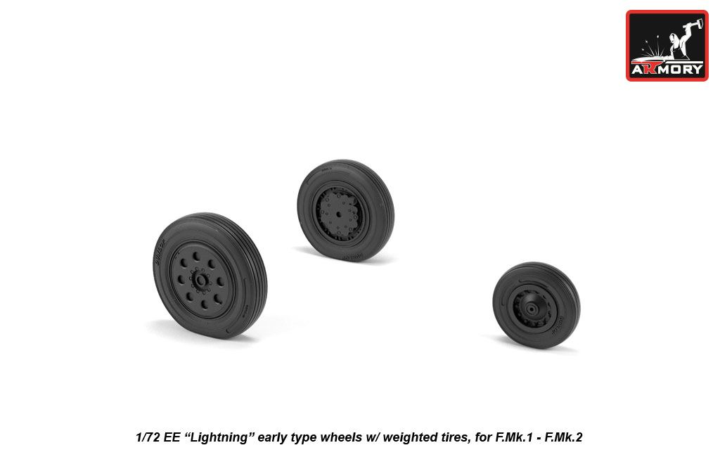 "EE ""Lightning-II"" wheels w/ weighted tires, early - Image 1"