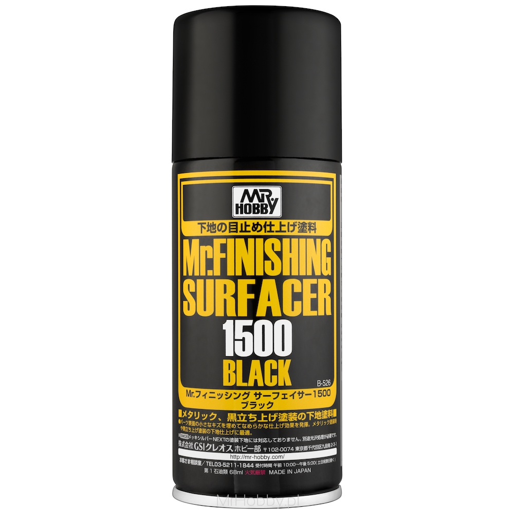B-526 Mr.Finishing Surfacer 1500 Black Spray - Image 1