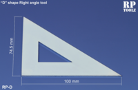 """D"" shape right angle tool"