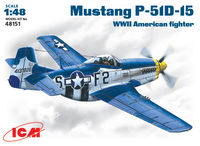 Mustang P-51D-15 WWII American  fighter
