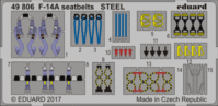 F-14A seatbelts STEEL TAMIYA 61114
