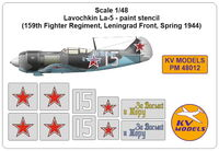 Lavochkin La-5 - paint stencil (159th Fighter Regiment, Leningrad Front, Spring 1944) - Image 1