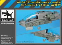 AH-64 D Front electronics + engine for Academy - Image 1
