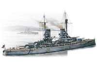 WWI German battleship König model kit