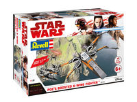 Star Wars Poes Boosted X-Wing Fighter - Build & Play Model Kit - Image 1
