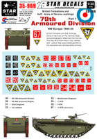 British 79th Armoured Division Formation & AoS markings. - Image 1
