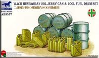 Hungarian IIWW 20L Jerry Can and 200L Fuel Drum Set - Image 1