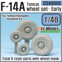 F-14A tomcat sagged wheel set- Early (for Tamiya/hasegawa 1/48) - Image 1