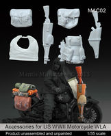 Accessories for US WW2 Motorcycle WLA
