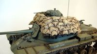 Sand armor & wood screens for M48 Tanks