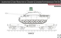 Jagdpanther G1 Early w/ Zimmerit & Schweber Platformwagen Type SSys (interior not included) Limited Edition