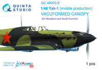 Yak-1 (middle production) vacuformed clear canopy - Image 1