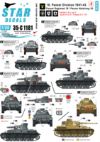 18. Panzer Division # 1. 1941-43. Pz II A-C and F, Tauch-Pz IV, Pz IV F / F2.