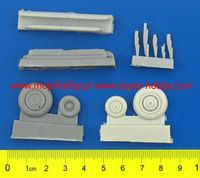 Su-17/22 exterior set - wheels, air scoops, flares/chaff (resin) - Image 1
