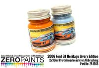 1565 2006 Ford GT Heritage Livery Edition Blue and Orange Set - Image 1