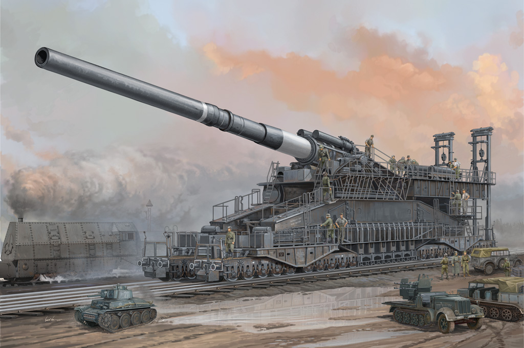 German IIWW 800mm K(E) Railway Gun Dora - Image 1