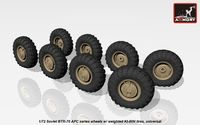 BTR-70 APC wheels w/ weighted tires KI-80N - Image 1