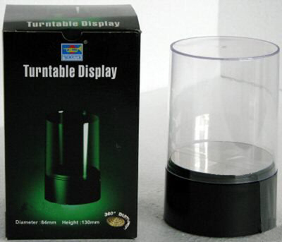 Display Case and Turntable Diameter 84mm Height 130mm - Image 1