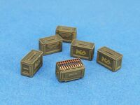 WWII 50 CAL Ammo Box set (Closed */Open*3, Ammo Belt*3, InclDecal)
