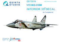 MiG-31BM  3D-Printed & coloured Interior on decal paper - Image 1