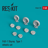 F4D-1 Skyray  Type 1 wheels set - Image 1