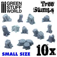 Small Tree Stumps Resin Set