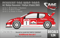 "Peugeot 206 WRC ""MARLBORO"" Sanremo 2003 - additional decal - Image 1"