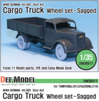 German 3t Cargo(Opel) Truck Wheel set (for Tamiya/Italeri 1/35) - Image 1