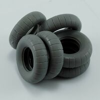Spare tires for Kubelwagen Type 82 for Tamiya - Image 1