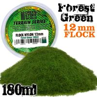 Flock Nylon 12mm Forest Green (180ml) - Image 1
