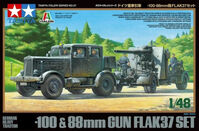 GERMAN HEAVY TRACTOR SS-100 & 88mm GUN FLAK37 SET - Image 1