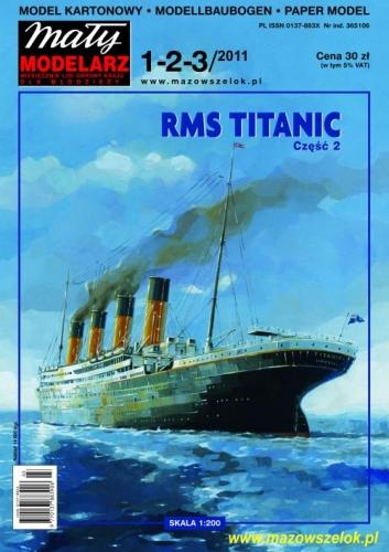 Transatlantyk RMS TITANIC część 2 Mały Modelarz -1-2-3-2011