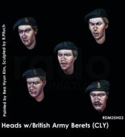 Heads w/British Army Berets (County London of Yeomanry badge)