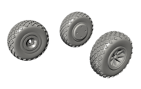 P-40 Wheels - Diamond and Hole Tread for Special Hobby - Image 1