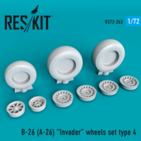 B-26 (A-26)  Invader type 4 wheels set