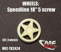 Speedline wheels 5 spoke 5 screw - Image 1