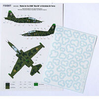 Masks for clover camouflage of Su-25UB Blue 60, Ukrainian Air Forces