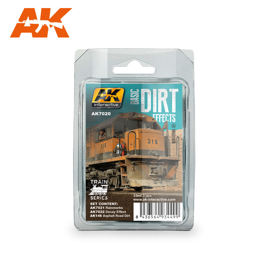 BASIC DIRT EFFECTS WEATHERING SET TRAIN SERIES - Image 1