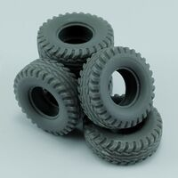 Sapre tires for US Hummer for Tamiya