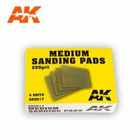 MEDIUM SANDING PADS 220 GRIT. 4 UNITS. - Image 1