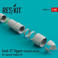 Saab 37 Viggen exhaust nozzle for Special Hobby Kit