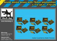 Soviet ammo boxes with 76mm ammunition