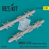 MBD2-67U  2 pcs Multiple Bomb Racks  (MiG-21, MiG-23, MiG-27(М), MiG-29К, Su-25, Yak-38) - Image 1